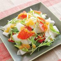 大根とスモークサーモンのサラダ