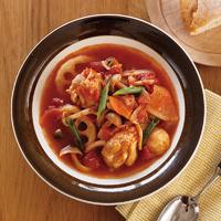 手羽元と根菜のトマトスープ