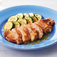 ズッキーニと鶏肉の塩レモンソテー