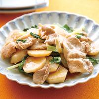 豚肉と里芋のにんにく醤油炒め