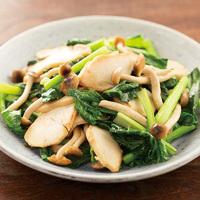 小松菜とチキンのさっと炒め