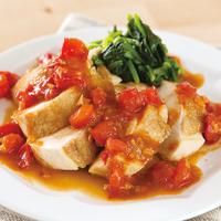 鶏ムネ肉のソテー フレッシュトマトソース