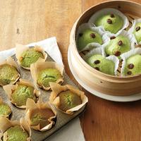 小松菜のマフィン&蒸しケーキ
