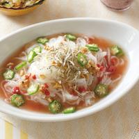米麺の梅風味スープパスタ