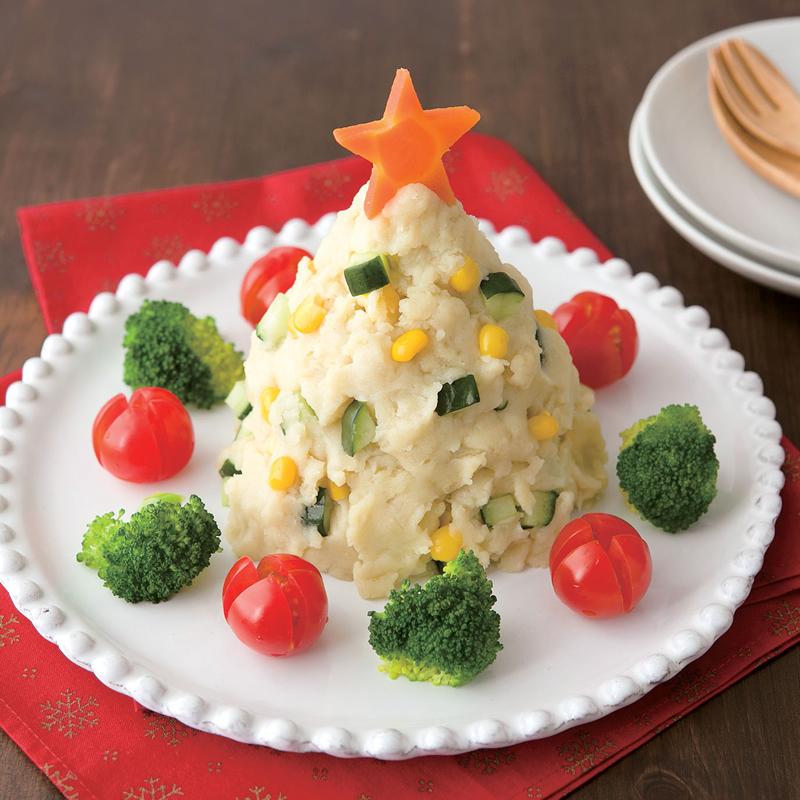 ポテトサラダのクリスマスツリー