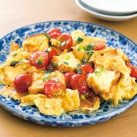 ミニトマトと厚揚げの中華風卵炒め