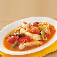 アクアパッツァ風 トマトと赤魚のスープ煮