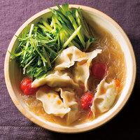 餃子と野菜のスープ春雨