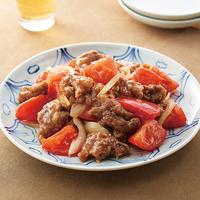 牛肉とトマトのオイスター炒め
