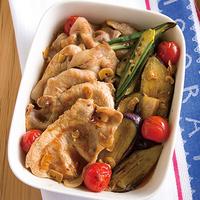 豚ロースと夏野菜のさっぱり焼きづけ
