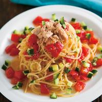 トマトとツナのサラダスパゲッティ