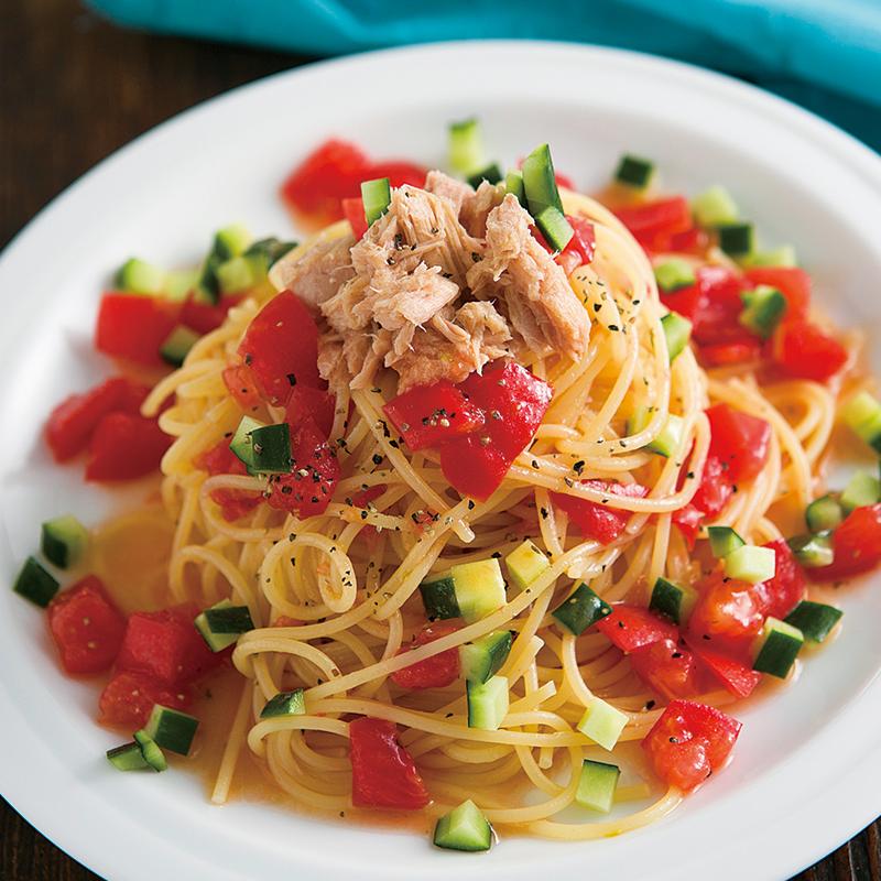 トマトとツナのサラダスパゲッティ だいどこログ 生協パルシステムの