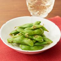 「冷凍枝豆」のペペロンチーノ風