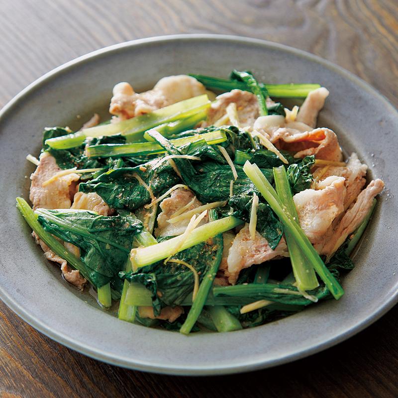 豚肉 小松菜