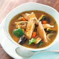 鶏スペアリブと夏野菜の和風スープカレー