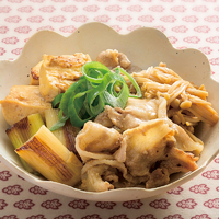 豚バラ肉と豆腐のすき煮