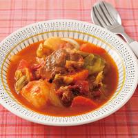 牛肉とトマトのボルシチ風
