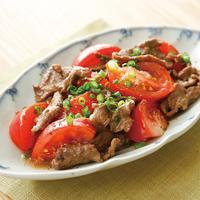牛肉とトマトの黒こしょう炒め