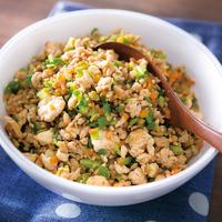 鶏ひき肉といろいろ野菜の炒り豆腐