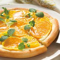 オレンジとヨーグルトのピザ