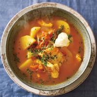 スープ・ド・ポワソン(たらとじゃがいものスープ)
