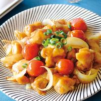 鶏肉とミニトマトの和風甘酢炒め