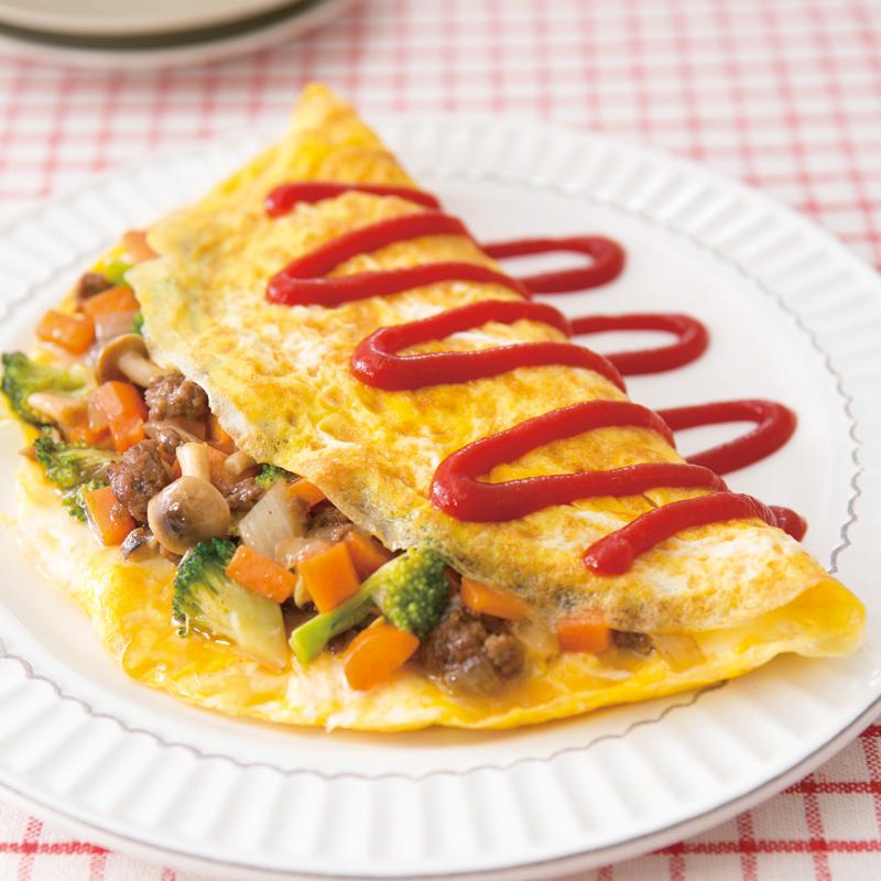 オムレツ ひき肉 入り 山本ゆりさんの卵料理【こだわりのひき肉入りオムレツ】作ってみた♪