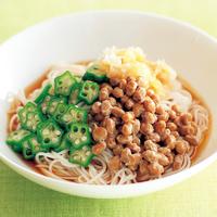 オクラ納豆のからめ麺