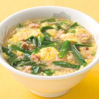 にらとひき肉の卵スープ