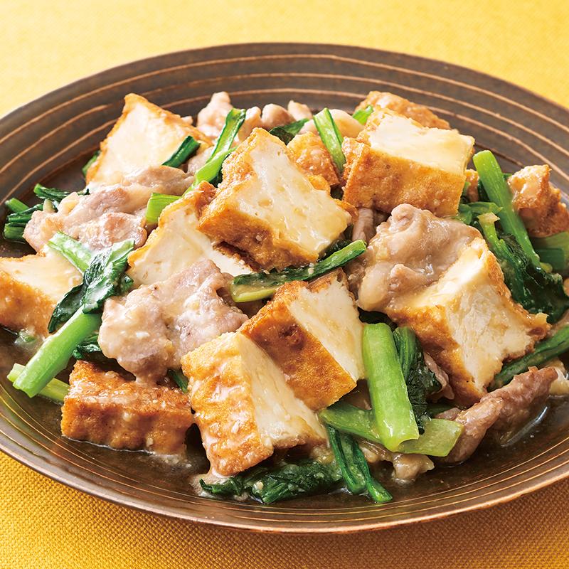 厚 揚げ 豆腐 レシピ
