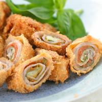 豚モモ肉の梅肉ロールカツ