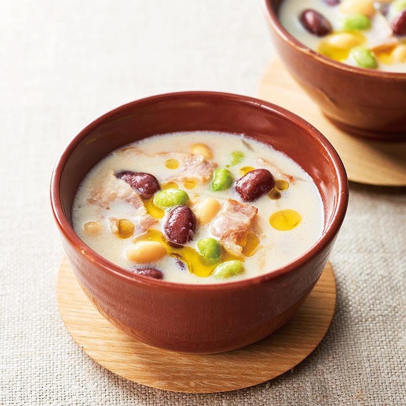 コンソメ スープ 豆乳 【スープジャー弁当】豆乳と豆腐のほっこりまろやかスープランチ