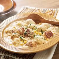 豚肉だんごと里芋のクリーム煮