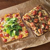 キルトピザ(チキンマヨ、トマト&コーン)