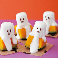 かぼちゃのマシュマロおばけ