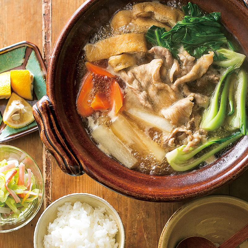 豚肉と大根の和風とろみ鍋 かにかまとキャベツの酢の物 3人分 だいどこログ 生協パルシステムのレシピサイト