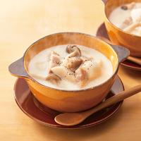 里芋とべーコンの白みそスープ