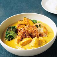 チキンと根菜のクリーミースープカレー