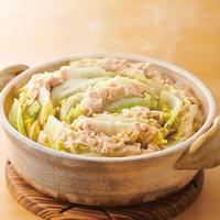白菜と鶏ひき肉のミルフィーユ鍋