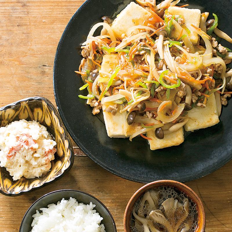 ステーキ 献立 豆腐