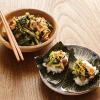 大根菜と豚肉のしぐれ煮