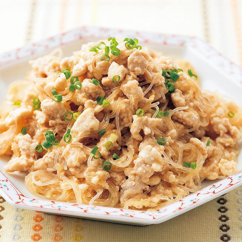ひき肉と豆腐のマーボー春雨風