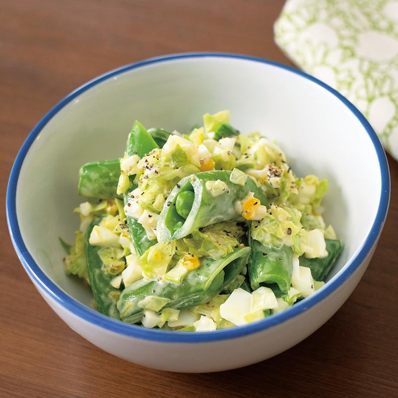 キャベツ ゆで 卵 サラダ