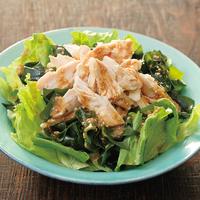 レンチン蒸し鶏の韓国風サラダ