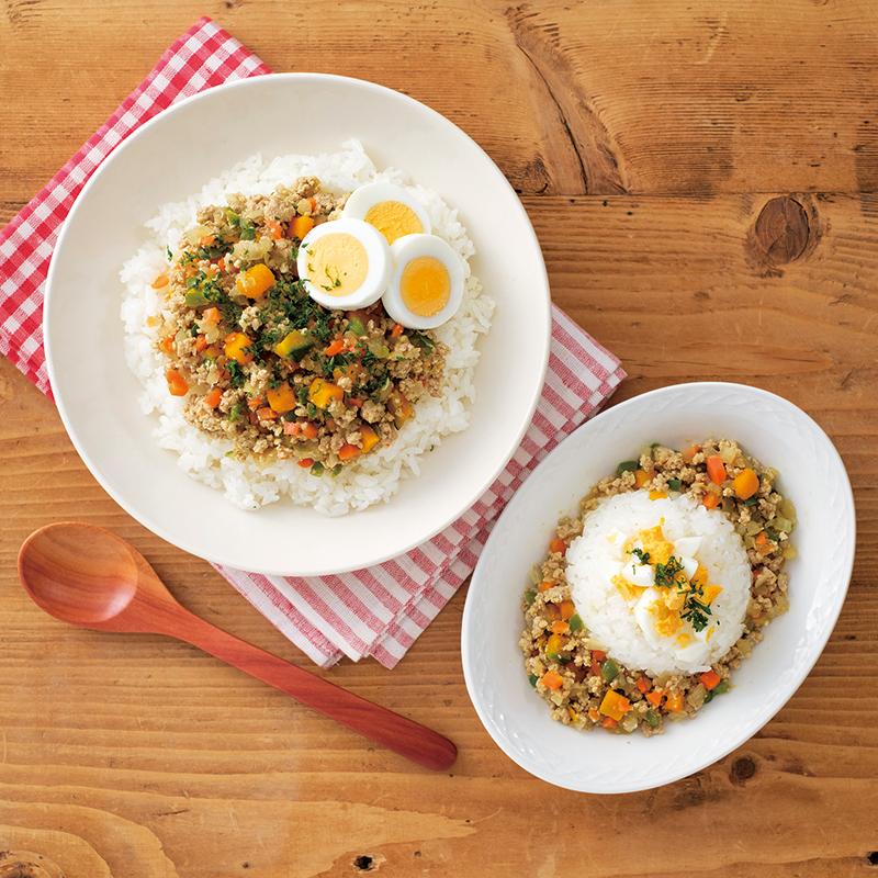 【取り分けレシピ】野菜が摂れる!ドライカレーセット