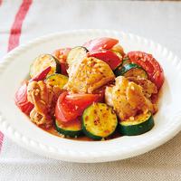 鶏肉とトマトのイタリアン炒め