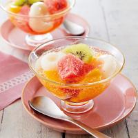 梅シロップ(梅酒)でフルーツポンチ
