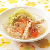 スペアリブとキャベツのスープ
