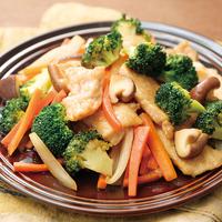 ブロッコリーと鶏肉のはちみつ炒め