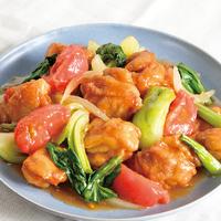 鶏肉とチンゲン菜のさっぱり甘酢炒め